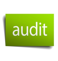 Audit green paper sign on white background vector