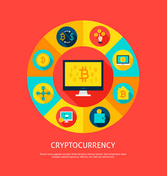 bitcoin cryptocurrency concept vector image vector image
