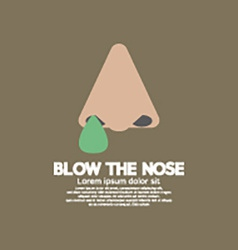 Blow the nose flat design vector
