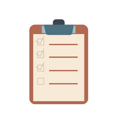 Checklist flat design icon vector