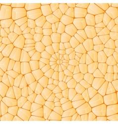 Circular mosaic of stones vector