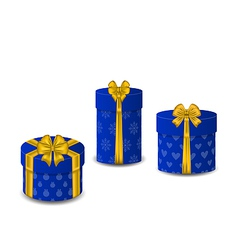 Collection gift boxes isolated on white background vector image vector image