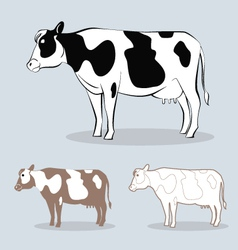 cow 4 vector image