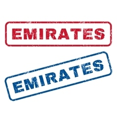 Emirates rubber stamps vector