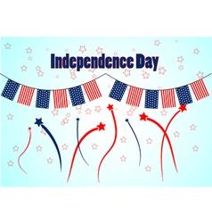 Garland in patriotic colors of american flag vector image vector image