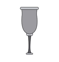 Glassware crystal for beverage icon vector