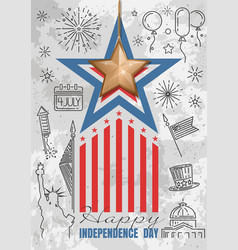 Happy independence day fourth of july vector