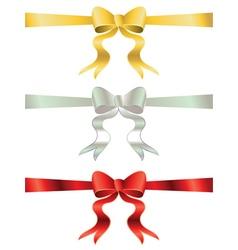 Holiday bows set3 vector