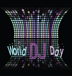 holiday greetings world day dj vector image vector image