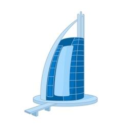 Hotel Burj Al Arab in United Arab Emirates icon vector image vector image