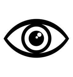Human eye icon simple style vector