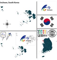 incheon metropolitan city south korea vector image vector image