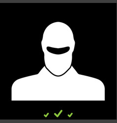 Man in balaclava or pasamontanas it is white icon vector
