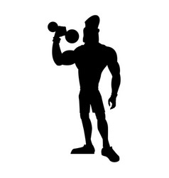 man weight lifting bodybuilding sport pictogram vector image vector image