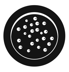 Peppercorns on a plate icon simple style vector