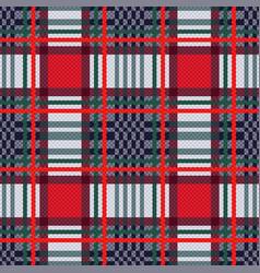 seamless tartan contrast rectangular texture vector image vector image