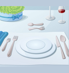 served table vector image