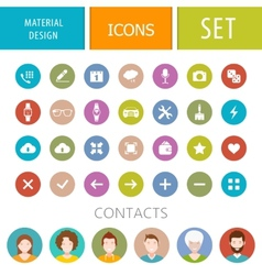 Set of icons in style of material design vector image