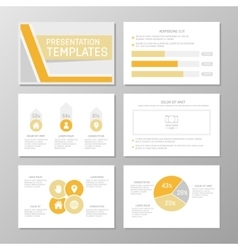 Set of orange and gray template for multipurpose vector