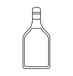 Tequila bottle alcoholic beverage outline vector