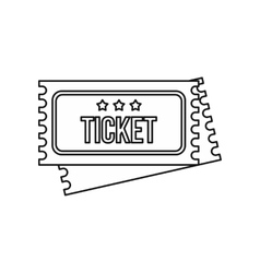 Vintage circus tickets icon outline style vector