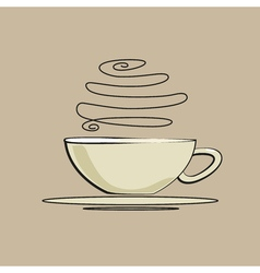 Vintage coffee cup vector image