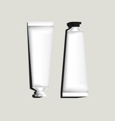 White aluminum tubes for packaging vector