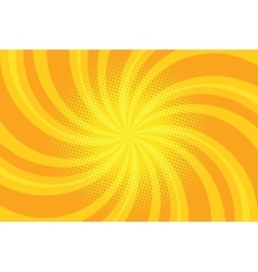 Yellow spiral pop art background vector