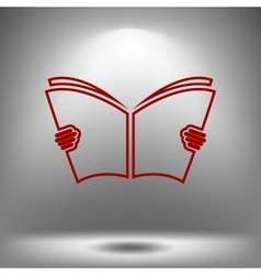 Reading book icon vector