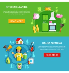 Clean the house banners vector
