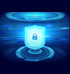 Internet security technology concept background vector