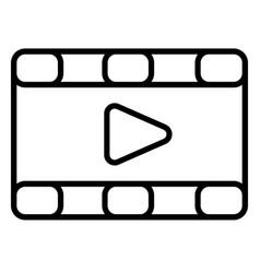 Movies videos icon vector