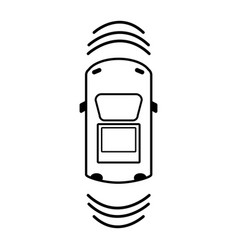 line car transportation from above with sunroof vector image