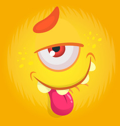 funny cartoon monster with funny expression vector image