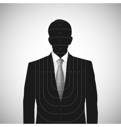 Human silhouette target  Unknown person vector image