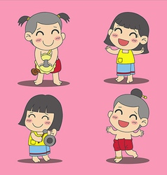 Thai children 2 vector