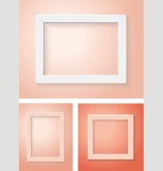 White and red frame set vector