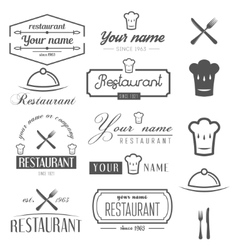 Set of logo and logotype elements for restaurant vector image