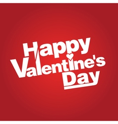 Congratulation on valentines day vector