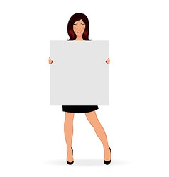 Business girl with board isolated vector