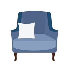 Armchair with white pillow vector
