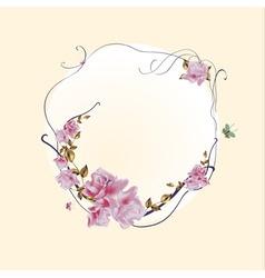 vector illustraition of elegant floral frame with vector image