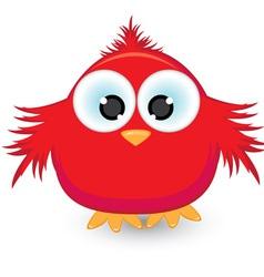 cartoon red sparrow vector image