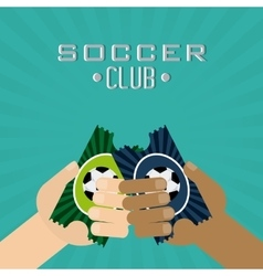 Soccer club design vector