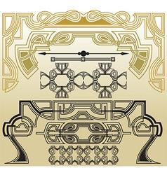 Retro style elements vector