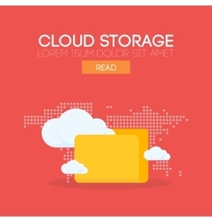 Cloud storage banner concept vector