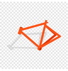 Bicycle frame isometric icon vector