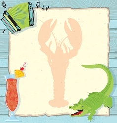 Cajun lobster party invitation vector
