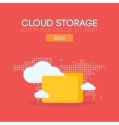 Cloud storage banner concept vector image