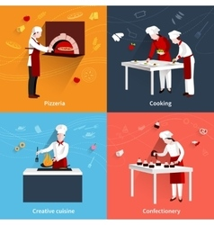 Cooking flat set vector